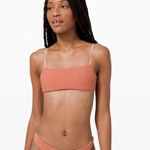 Lululemon Pool play bikini top reversible 6 8 S